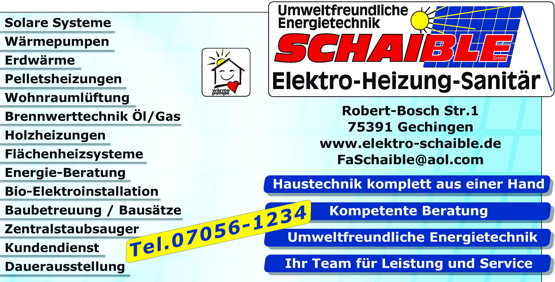 Elektro Schaible GmbH - Elektro - Heizung - Sanitär - Gechingen ...